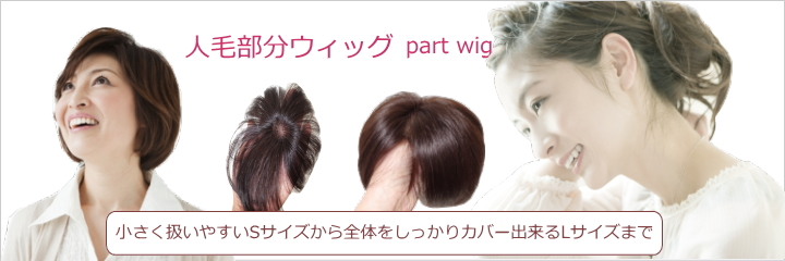 さくら倶楽部 部分ウィッグ人毛100%Sサイズからロングまで各種。トップのボリュウムアップから薄毛、分け目の白髪隠し迄。総手植え製人毛で通気性も良く取り付け簡単自毛との相性も抜群。男女兼用、医療用、普段使いと大変ご好評頂いております。