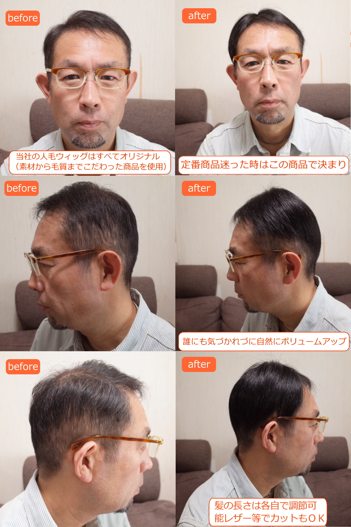 男性用メンズ部分ウィッグMサイズtop-02n商品詳細&カラー画像